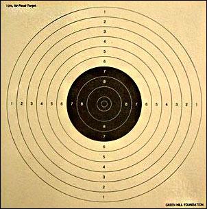 10미터 공기권총 표적지