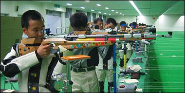 10미터 공기소총 연습장면