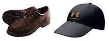 클레이사격용신발과 모자