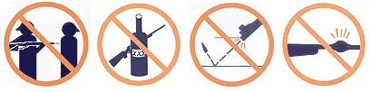 안전수칙 금지표시